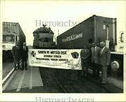 1987 Press Photo Officers Of Santa-fe-mitsui O.s.k. Lines In Los Angeles