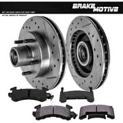 Front Drill And Slot Brake Rotors And Metallic Pads For Chevy S-10 Jimmy Sonoma 2wd