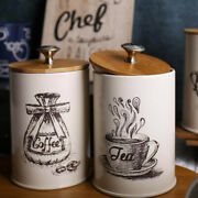 3pcs Retro Tea Coffee Sugar Kitchen Storage Canisters Jars Pots Containers Tins