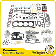 For 85-95 Toyota 4runner Timing Chain Cover Kit Piston Head Gasket Water Pump