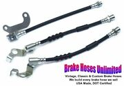 Brake Hose Set Ford Galaxie 1967 Late After Build Date 10-15-1966 Front Disc