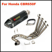 Motorcycle Full Set Exhaust System Tail Pipe Front Elbow Tube For Honda Cbr650f