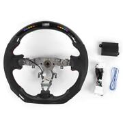 Carbon Fiber Perforated Nappa Led Car Steering Wheel Fit For 370z 2009-20