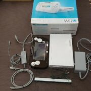 Wii U Console With Gamepad Cables Working White Japan Ntsc-j W/box Pad Deluxe