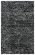 Rizzy Rugs Black Waves Angled Diagonals Contemporary Area Rug Geometric Etc101