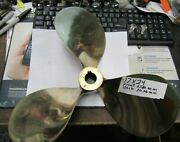 Used Shiny 3-blade Brass Right Hand Boat Propeller 17 X 24