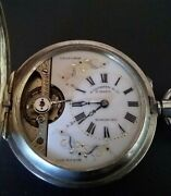 Antique J Ullman And Co 8 Days Hong Kong Size 16 Pocket Watch W/shanghai Dial