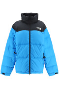 New Vetements Two-tone Puffer Jacket Uah21ja003 1303 Black Blue Authentic Nwt