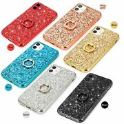 10pcs/lot Ring Plating Glitter Electroplated Tpu Soft Case For Iphone Samsung