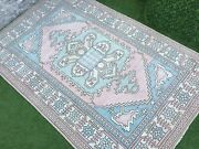 5and03911and039and039x9and0394and039and039 Antique Turkish Rugvintage Oushak Tribal Ruglarge Ushak Area Rug