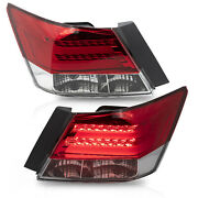 Customized Red Clear Tail Lights With Led Running Light For 08-12 Honda Accord
