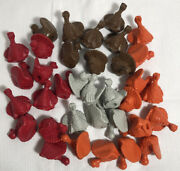 Vintage Diener Turkey Soft Rubber Erasers Pencil Toppers Lot Of 35 Thanksgiving