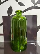 Large 10in Antique Green Medicine Apothecary Bottle Rare Beautiful Jar