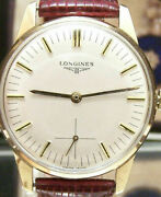 Antique Vintage Longines Solid Gold 17 Jewel Swiss Watch Serviced + Box And Papers
