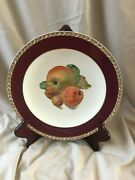 Crown Ducal Ware Dinner 9 Plates 5fo Fruits Made In England-vintage Set Of 6