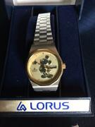 Disney Collectible Mickey Lorus Watch Stainless Steel Female - New
