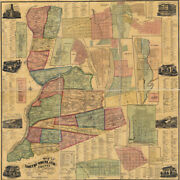 1874 Map Of Northumberland County Pa From Actual Surveys