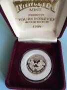 Disney Commemorative Yours Forever Mickey And Minne Coin Silve - Silver