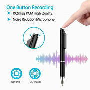 8gb Super Sensitive Microphone Audio Spy Voice Recorder In Real Ballpoint Pen Gd