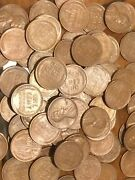 375 Us Wheat Lincoln Pennies With 8 Steel War Pennies Unsorted Random Lot