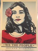 Set Of 3 Shepard Fairey We The People Litho Prints Unsigned