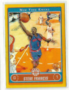 Steve Francis 2006-07 Topps Chrome Gold Refractor And039d 25/25 Knicks Maryland