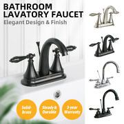 Oil Rubbed Bronze Bathroom Sink Faucet Brushed Nickel Lavatory Drain 3 Hole New