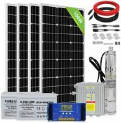 Dc Deep Well Solar Water Pump 24v 140w Submersible 200ah Battery System Kit Bore