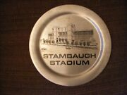 Stambaugh Stadium Stainless Steel/pewter Steel Plate 12 Inch Youngstown State U.