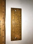 Vintage Slide Rule 6 In Army And Navy Csl Scale Of Inches Protractor 6 X 2 Exactly