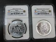 2008/2009 Canada Maple Leaf 1 Oz. S5 Silver Vancouver Olympics Ngc Ms69 Q3a2