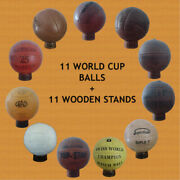 Official World Cup Footballs Collection 1930 To 1966 11 Balls 11 Holders