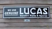 1950and039s/60and039s Vintage Style Lucas British Auto Parts 1and039x46 Alum Sign-garage Art