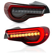 Upgraded Red Clear Led Tail Lights For 13-16 Fr-s 17-19 86 13-20 Subuaru Brz