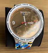 New Swatch X Bape Tokyo Multi Combo White Big Bold Watch - Collectable Sold Out