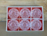 Set 6 Vintage Crystal Candleholders For Tiny Mini Candles Crystal