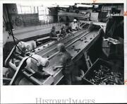 1976 Press Photo Ohio Cucumbers Sorted On A Conveyor Belt At Madison Co.