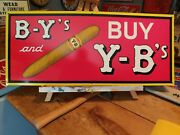 Original Y-b Yokum Brothers Deluxe Cigars Tin Sign