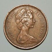 1971 New Pence 2 Coin Bronze Collector Coin Great Condition Very Rare