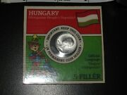 Hungary 1970 5 Filler Coin In Original Package, Uncirculated