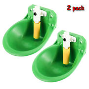 2pcs Farm Automatic Water Feeder Trough Drink Bowl Plastic For Piglet Cattle Dog