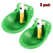 2 X Automatic Water Trough Bowl For Pig Cow Dog Plastic Animal Auto Fill Waterer