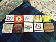 Vintage Match Book Collection Lot Of 10 Full Books Unique Advertisements Vg