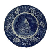 """Old English Staffordshire, The Pipe Organ, Howe Caverns New York 1842, 10"""" Plate"""
