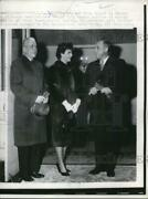 1959 Press Photo Nj Governor And Mrs Robert Meyner And Highway Commissioner Palmer