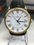 Baume And Mercier Solid 18k Classima Automatic Watch - W/original Band/buckle