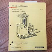 Prime Mover Rr-40b Parts Manual Book List Catalog Electric Reach Fork Lift Truck