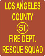 Emergency 51 Fire Department 1970and039s Tv Show Metal Replica Sign