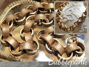 Antique Victorian Stamped Ring Chunky Link Necklace Estate Jewelry Buy-out