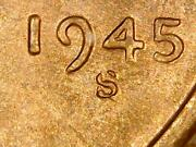 1945-s/s Rpm 6 Lincoln Wheat Penny Bu Uncirculated Red Us Coin Sku-1932
